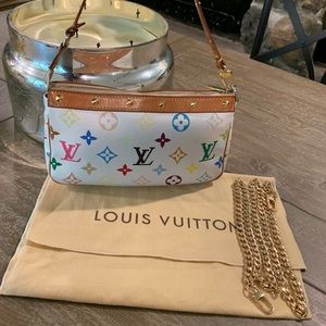 Louis Vuitton Multi Colored White Mini Pouchette